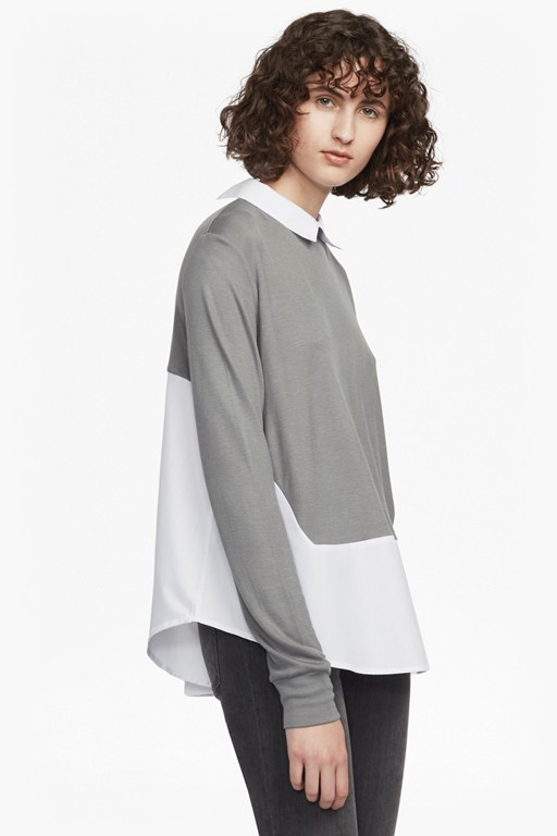 Fresh Jersey Shirt Layered Top
