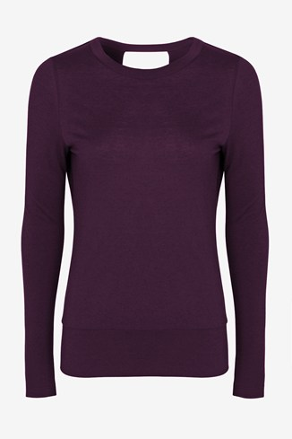 Blake Wool Open-Back Jersey Top