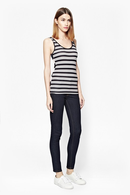 stripe mix up vest top