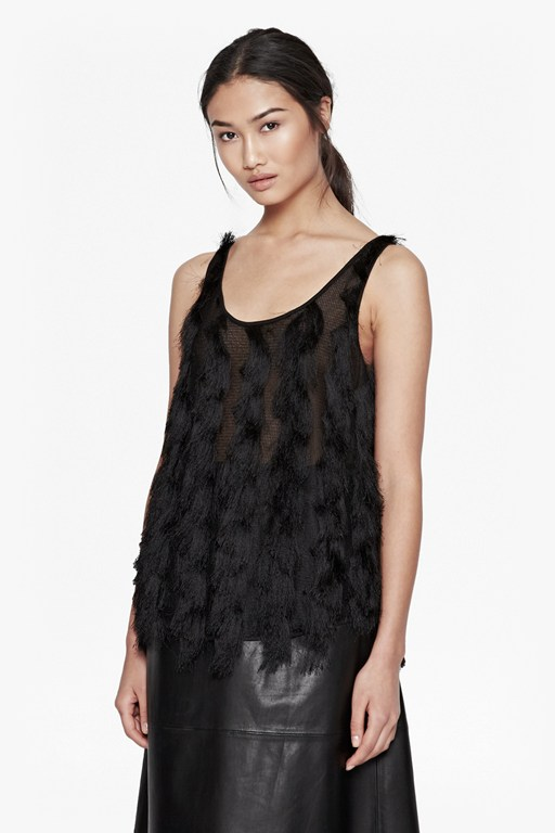 tassel valley vest top