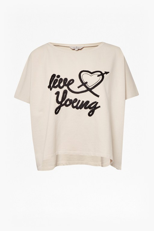 live young slogan t-shirt