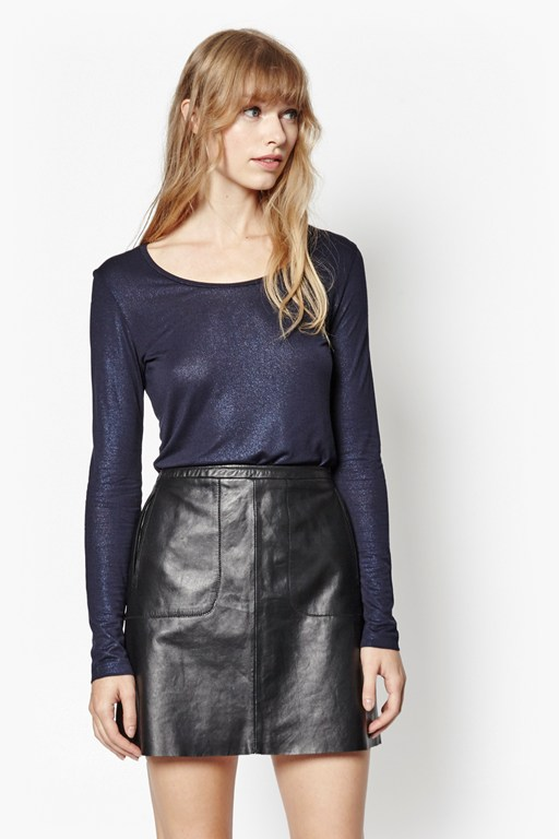 metallic martha top
