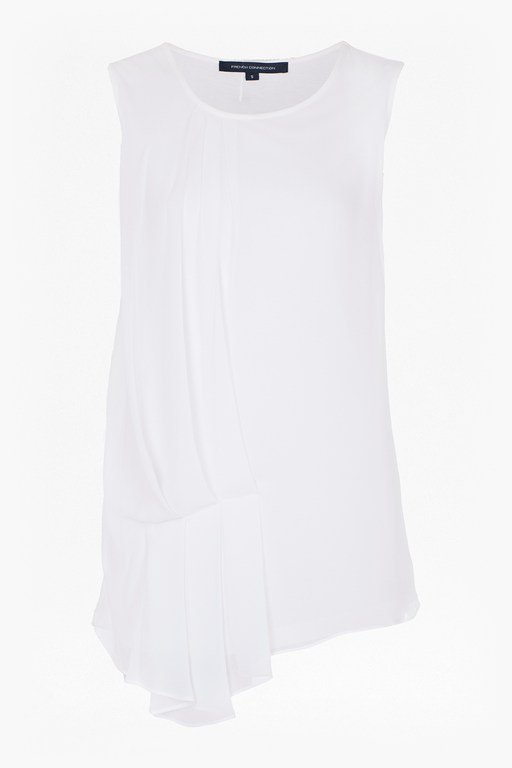 florrie pleated drape detail top