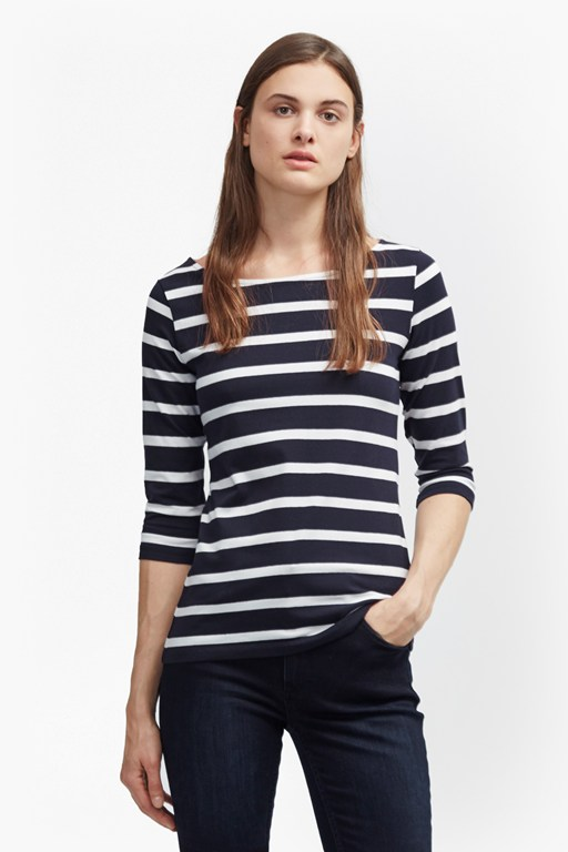 tim tim 3/4 sleeve striped top