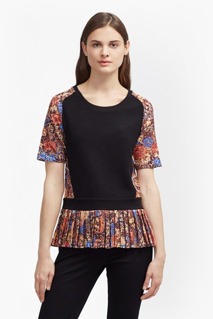 Flora Jersey Lace Top