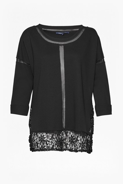 Noland Mesh Panelled Lace Top