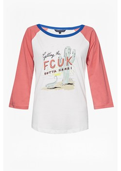 Fcuk Getaway Long Sleeve Round Neck T Shirt