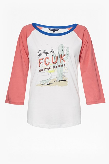 Fcuk Getaway Long Sleeve Round Neck T-Shirt