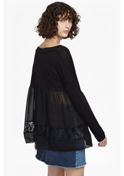 Arrow Lace Back Jersey Top