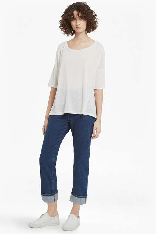 hetty marl oversized jersey t-shirt