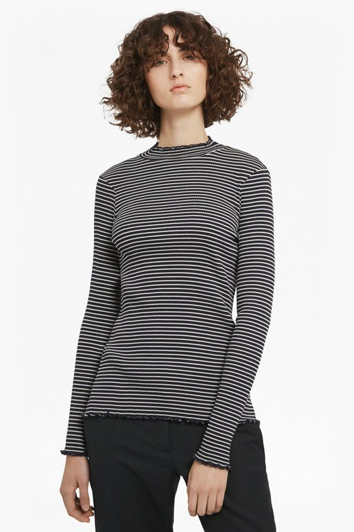 Complete the Look Tim Tim Ribbed Striped Top