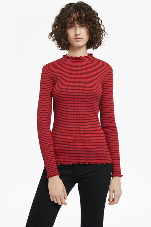 tim tim ribbed striped top