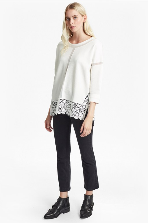 noland jersey round neck top
