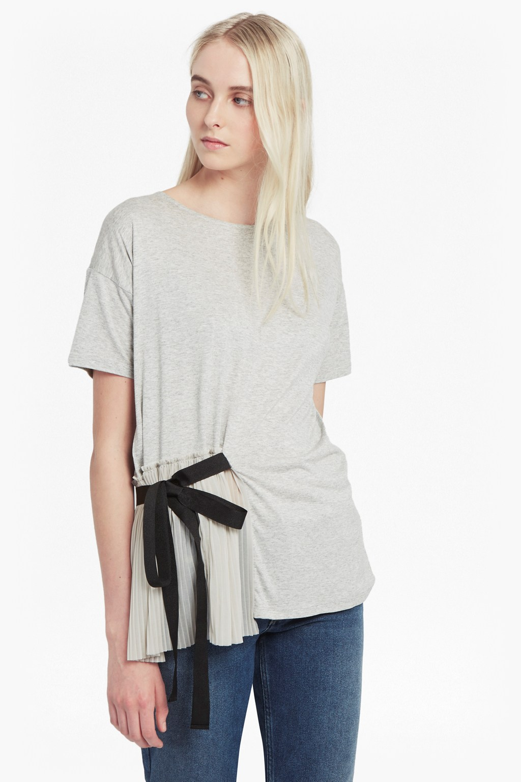 Tie side pleats t shirt dresses french connection for French connection t shirt dress