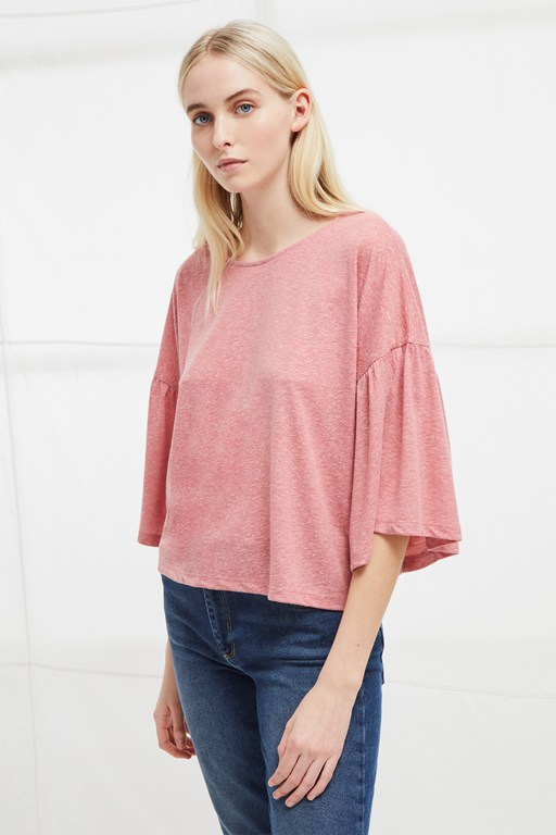 hetty flare sleeve t-shirt