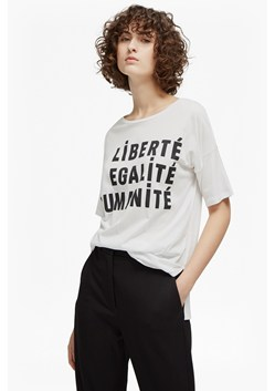 Liberte Scoop Neck Raglan Slogan T-Shirt