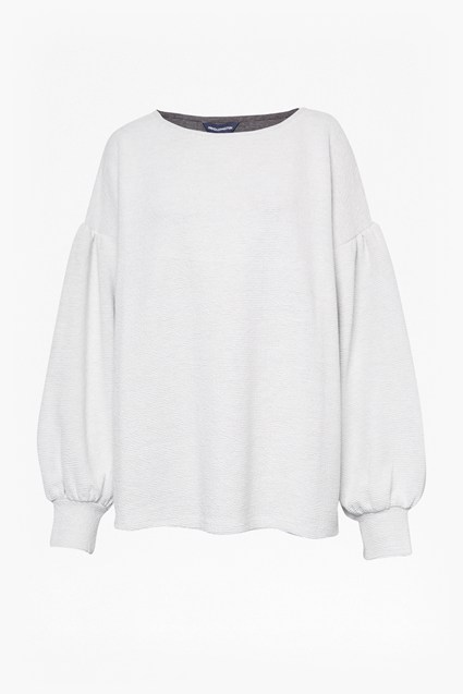 Ellen Textured Balloon Sleeve Sweater