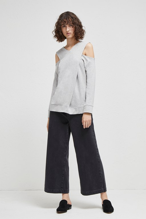 malina cross strap sweater