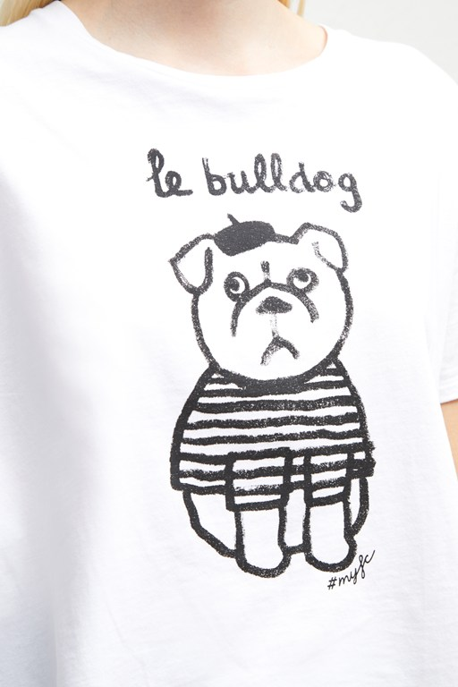 le bulldog slogan t-shirt