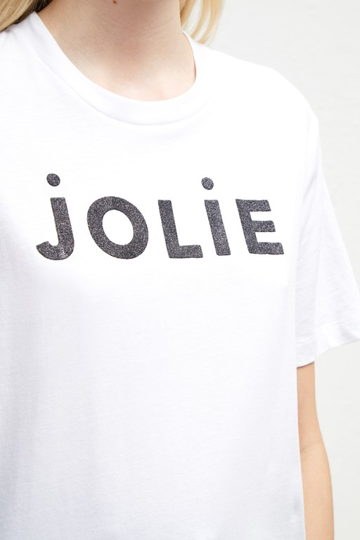 Complete the Look Jolie Glitter Slogan T-Shirt