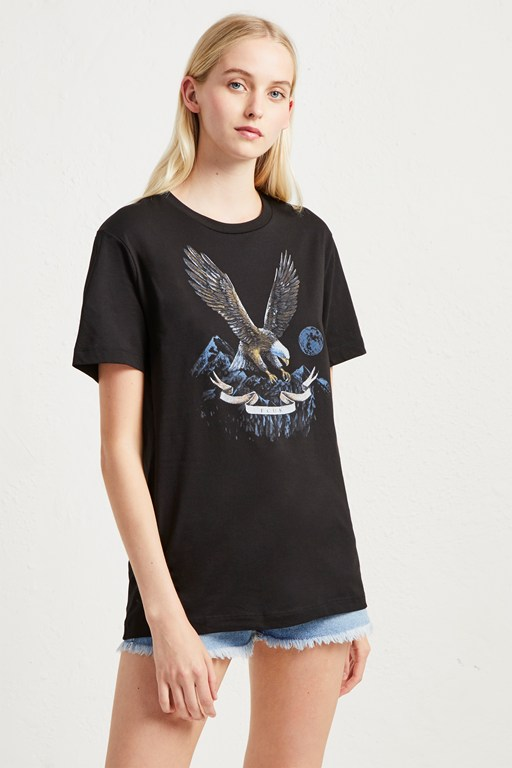 eagle graphic slogan t-shirt