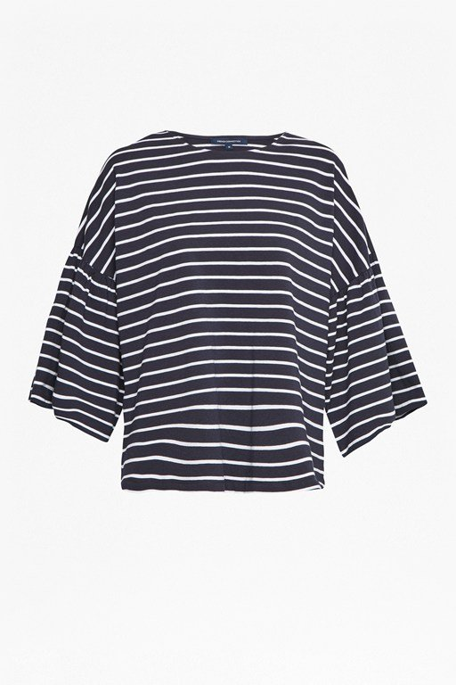 tim tim stripe bell sleeve top