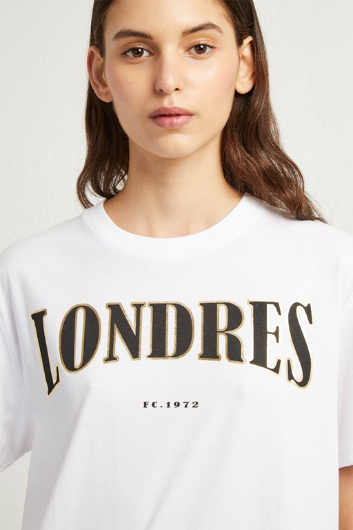 londres foil slogan t-shirt