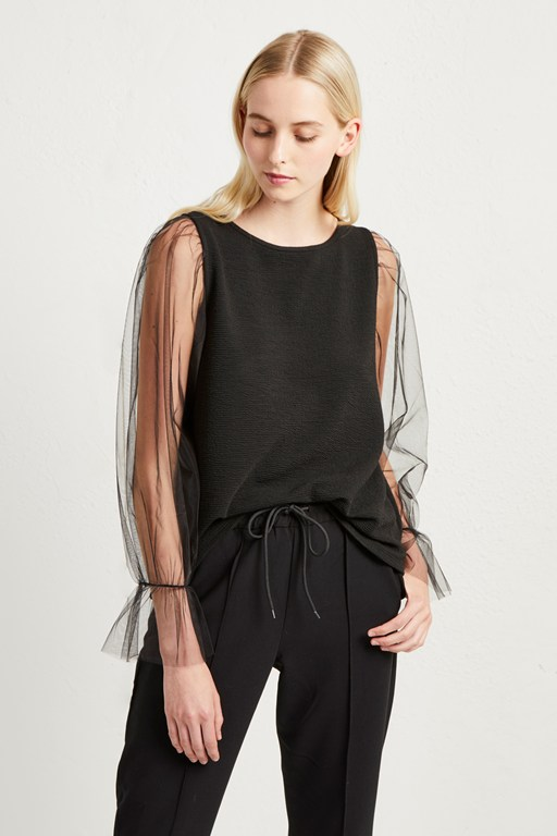 phyllis sheer jersey top