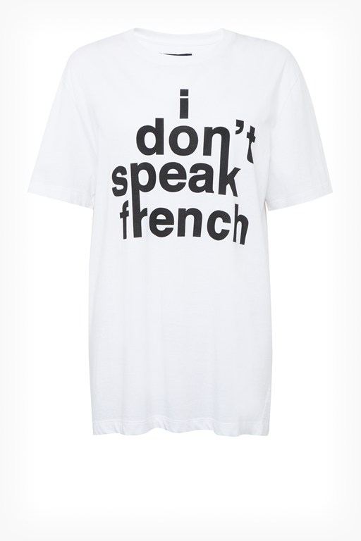 Complete the Look I Don't Speak French Slogan T-Shirt