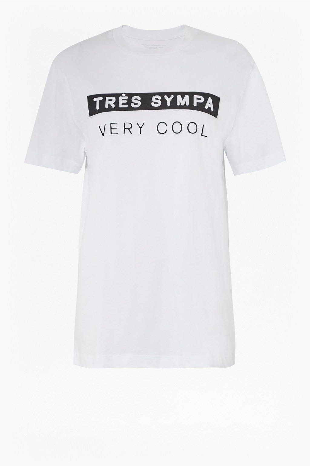 9ba58a02 Tres Sympa Slogan T-Shirt | Collections | French Connection
