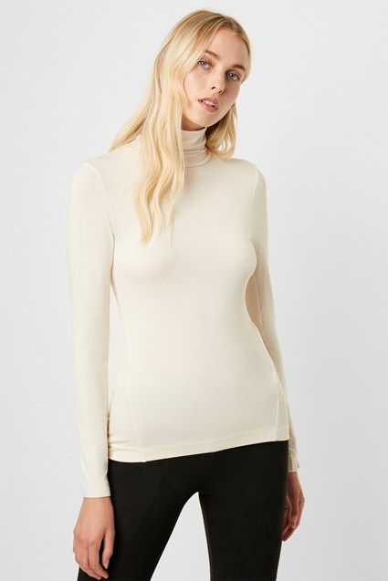 Venetia Jersey Roll Neck Top
