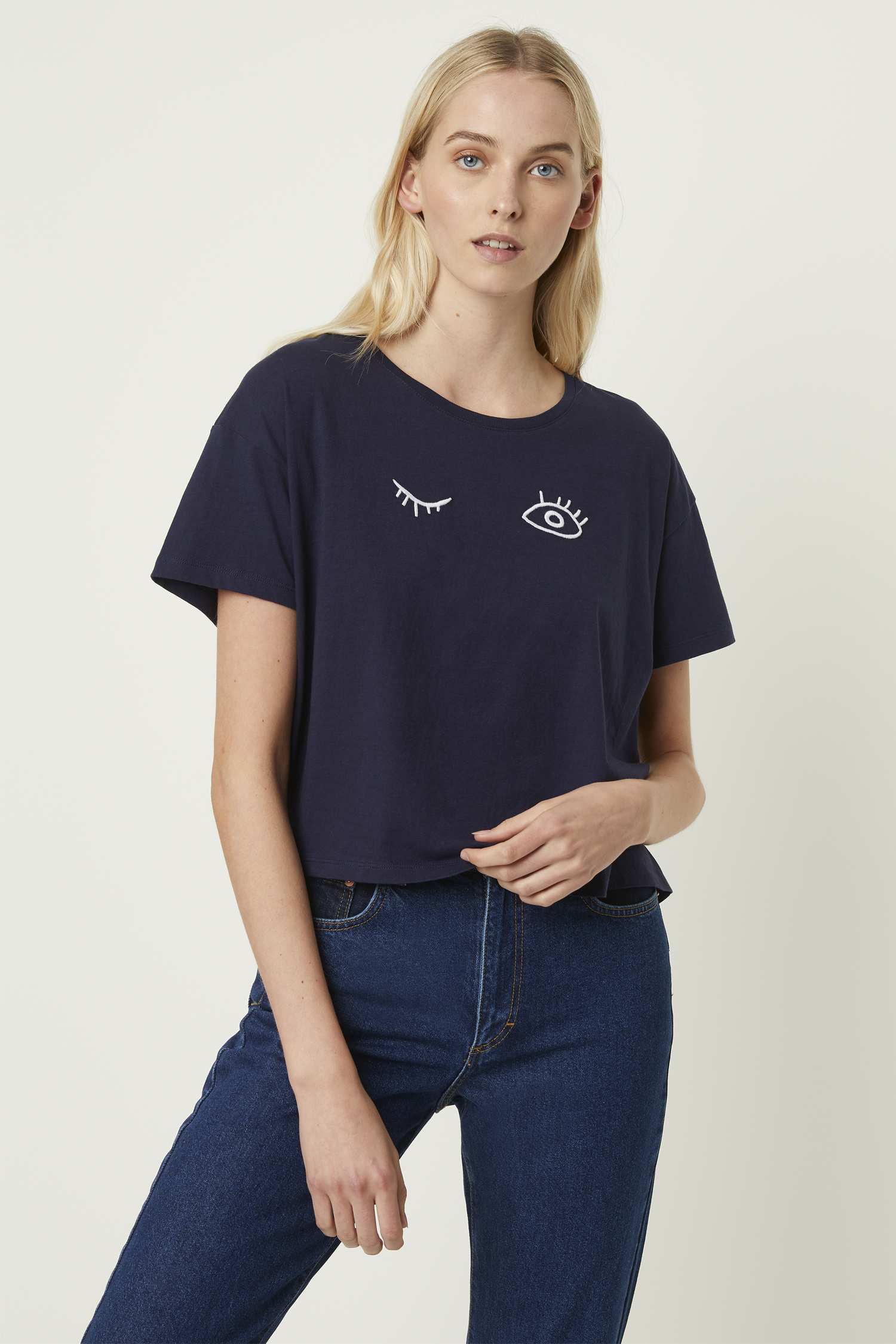 8a29fd37e3e Wink Crop Graphic T-Shirt | Collections | French Connection