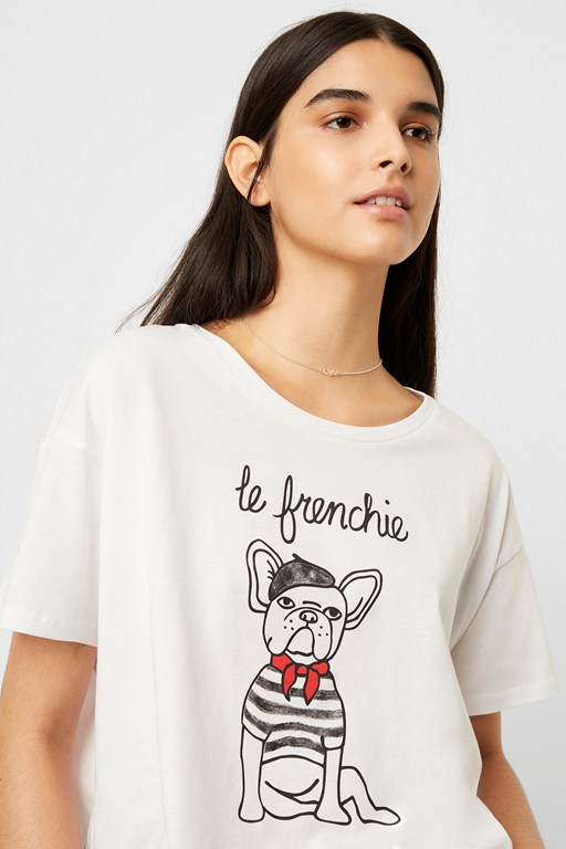 le frenchie cropped t-shirt