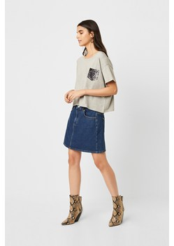 Snake Pocket Oversized Crop T Shirt