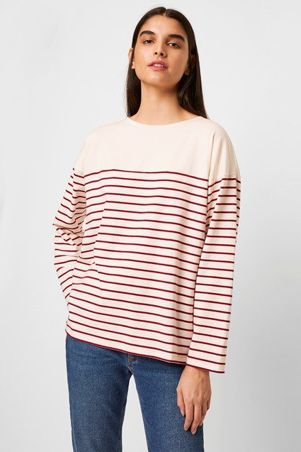 Tri Stripe Jersey Long Sleeve Top