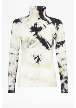 Zyne Tie Dye Jersey Roll Neck Top