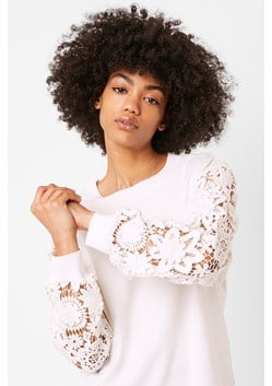 Tafari Lace Sleeve Top