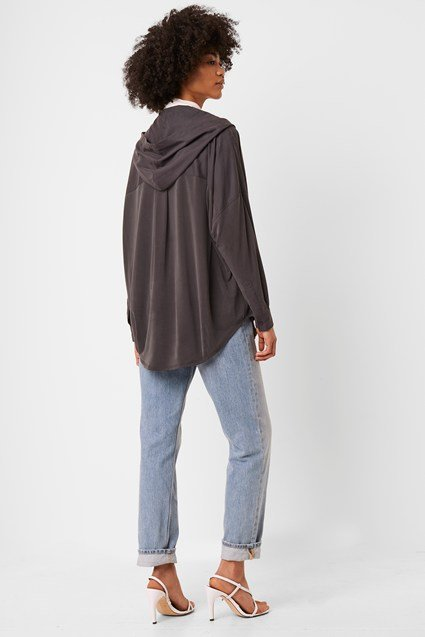 Renya Cupro Jersey Hooded Top