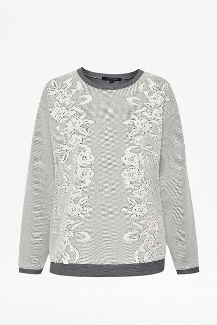 Jocelyn Jacquard Cotton-Blend Sweater