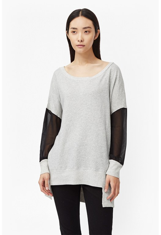 Ditton Cotton Sheer Detail Sweatshirt