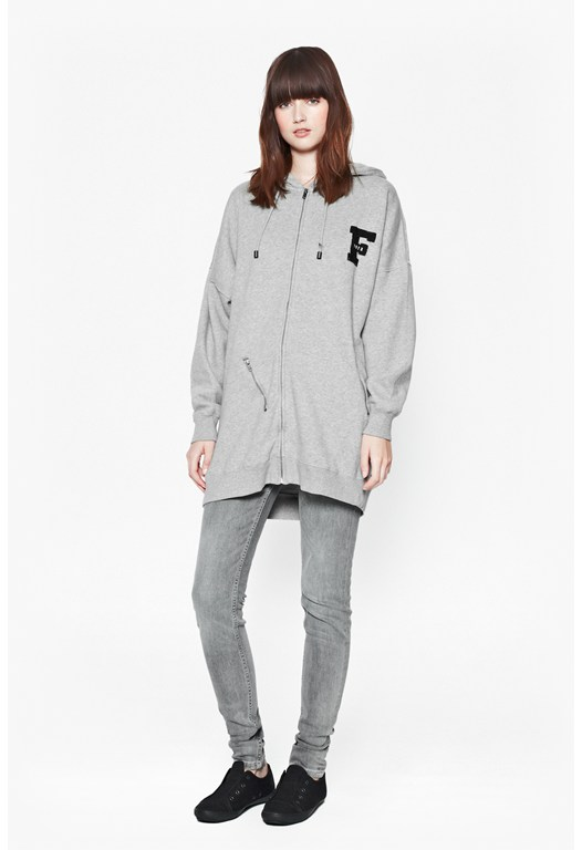 Pipa Sweats Longline Zip-Up Hoody