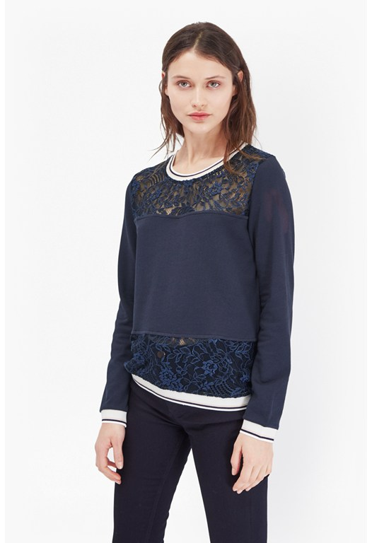 Hannah Lace Panelled Sweater