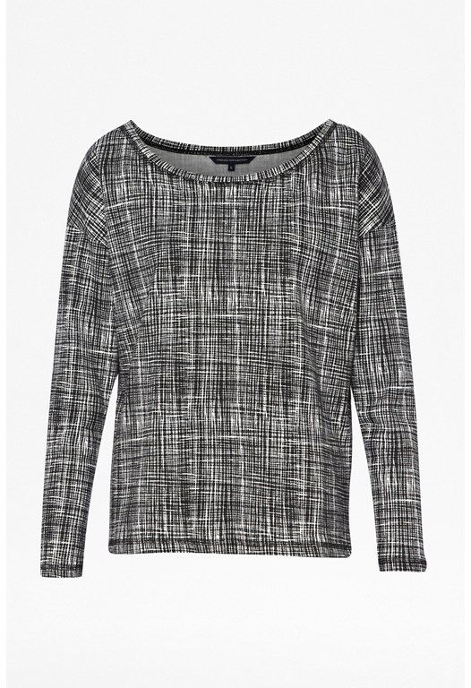 Texture Checked Sweatshirt