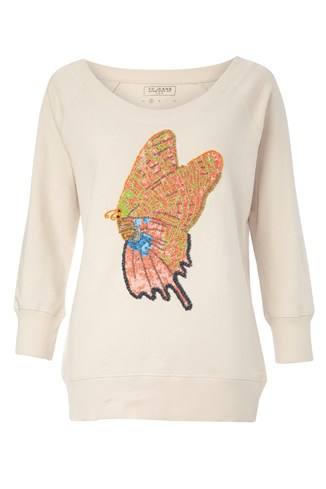 Swallow Tail Sequin Sweatshirt