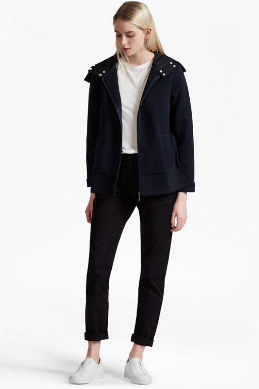blakelock jersey oversized hooded jacket