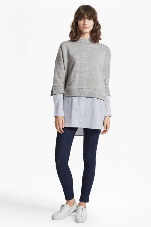dune mix oversized sweatshirt