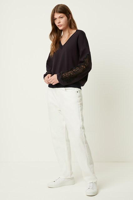 Ullabelle Lace V Neck Jumper
