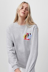 Love Graphic Crew Neck Sweater