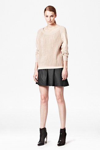 Otter Knitted Scoop Neck Jumper