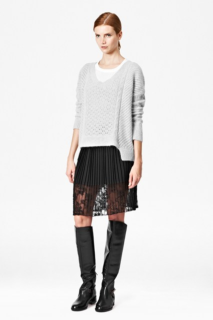 Feather Knitted Jumper